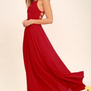 Lulus Strappy to be Here Red Maxi Dress-PM